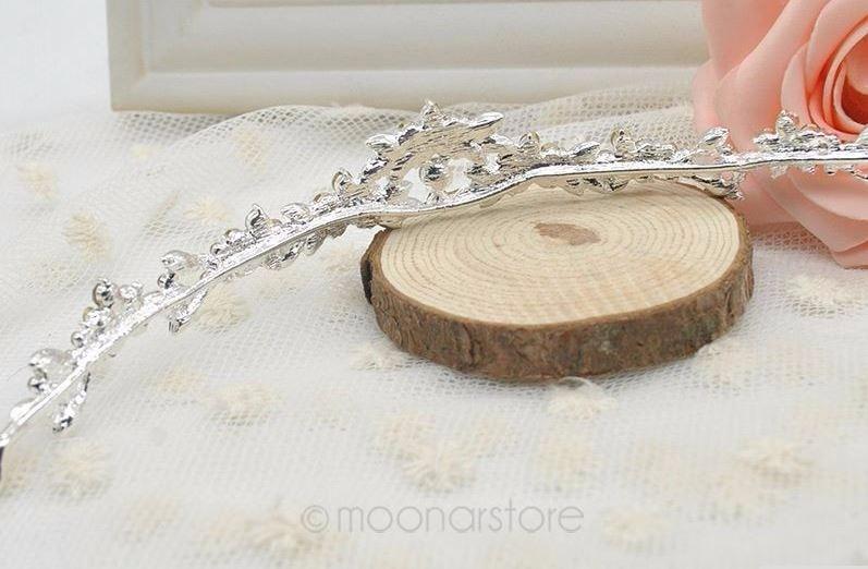 hermosa tiara cristales, bodas, quinceañeras bisutería fina