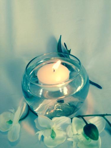 hermosa vela flotante 5cm paq c/10pzas