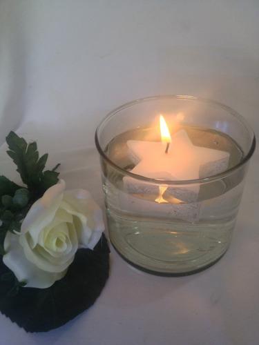 hermosa vela flotante 6 cm paq c/10