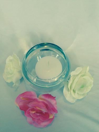 hermosa vela flotante centros de mesa paq con 20 pzas