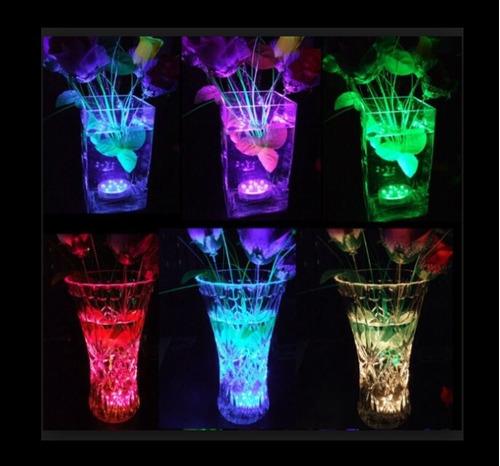 hermosa vela tealight sumergible pilas recambiables 12pzas.
