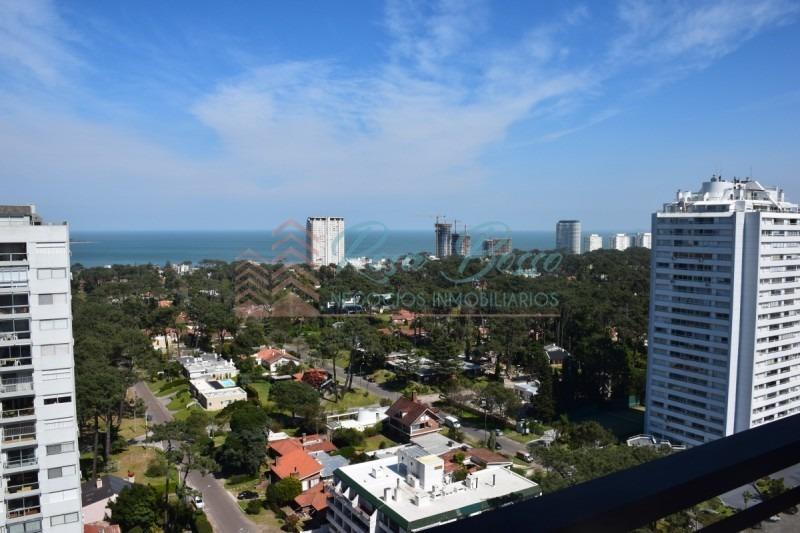 hermosa vista hacia playa mansa , edificio con servicios! -ref:5318