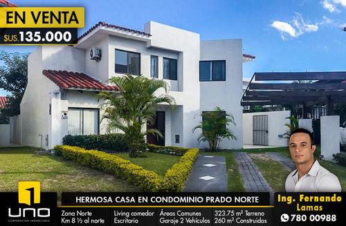 hermosa y amplia casa en venta en condominio prado norte