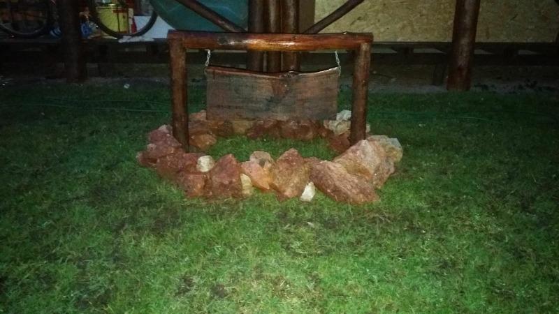 hermosa y confortable cabaña de tronco a estrenar alquiler t