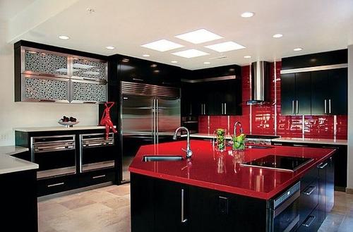 hermosa y elegante cocina modular