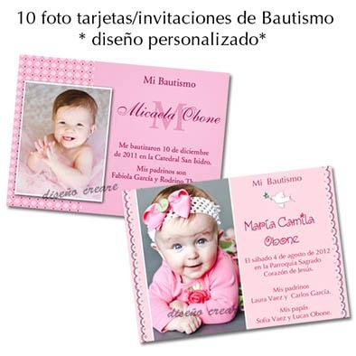 Tarjeta De Invitacion De Bautismo