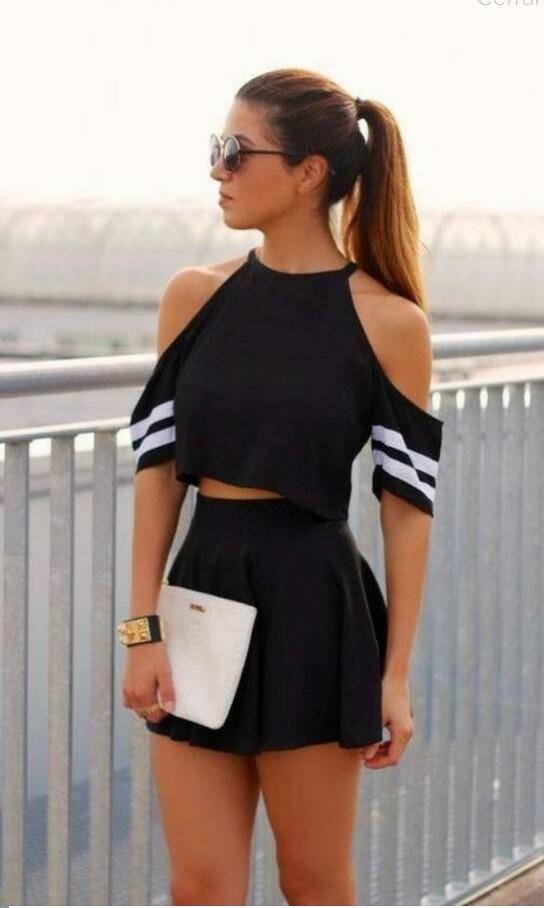 946df155547 Hermosas Blusas Franelas Dama Faldas Blusas Cortas Faldas -   38.000 en Mercado  Libre
