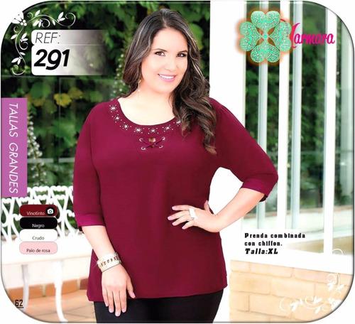 hermosas blusas mujer exclusivos diseños tallas grandes xl