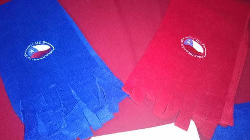 hermosas bufandas bordadas copa america 2015, personalizadas