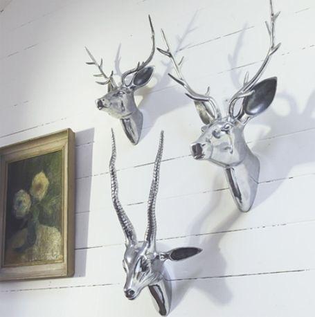 hermosas cabezas de animales para pared. decoración hogar!