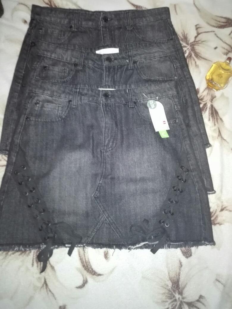 Hermosas Faldas Jeans A La Cintura Con Pasador Talla S - S  6 11b55a4133c2