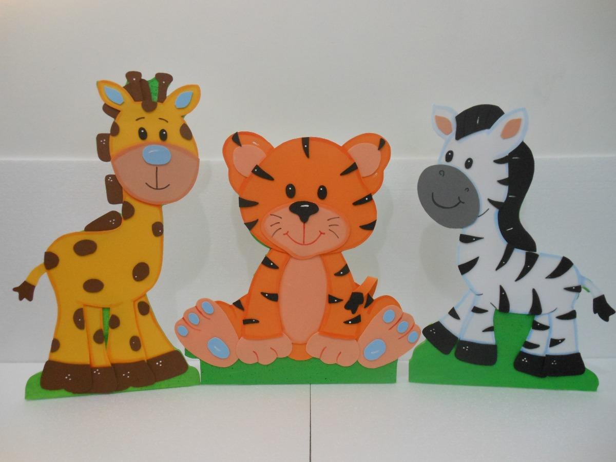 Hermosas figuras en foami y anime animalitos de la selva for Decoracion goma eva infantil