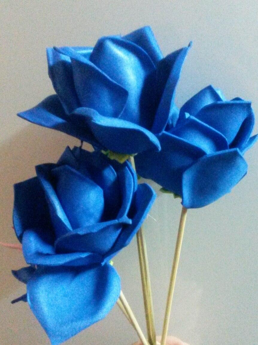 Hermosas Flores Para Ramo O Arreglos De Goma Eva 4000 En