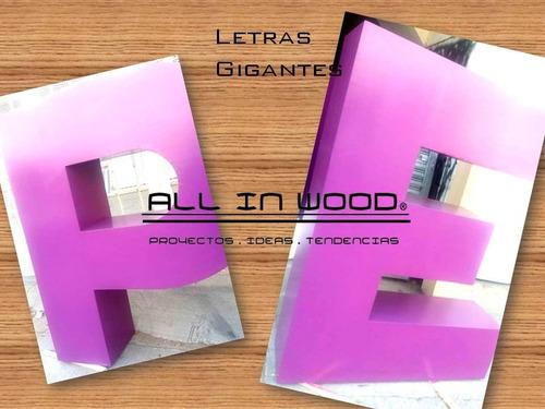 hermosas letras de madera a tu gusto de 1.50 mts