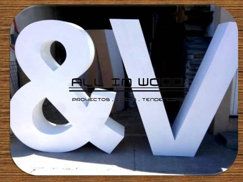 hermosas letras de madera a tu gusto de 1.80 mts