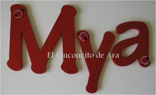 hermosas letras para decorar la habitacion de tu bebe