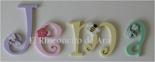 Hermosas letras para decorar la habitacion de tu bebe en mercado libre - Letras bebe decoracion ...