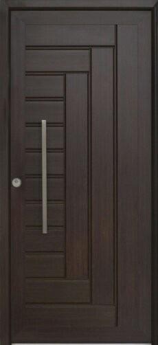 Hermosas puertas en madera de cedro al estilo minimalista for Puertas minimalistas exterior