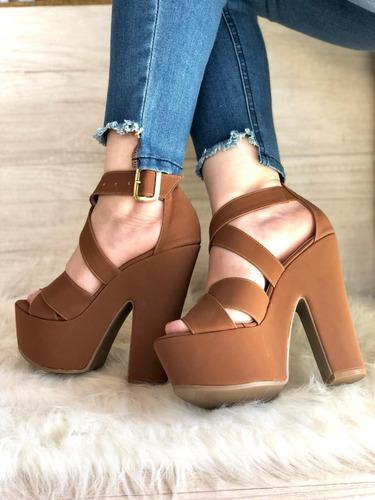 hermosas sandalias altas calidad colombiana envio gratis