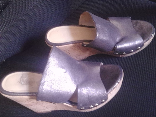 hermosas sandalias nine west. plataforma de corcho. talla 9.