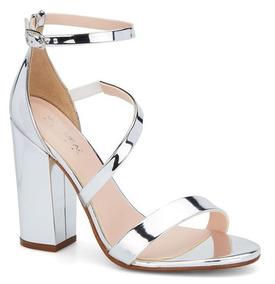 Bordado Sandalias Zapatos Plateadas Plateado Con Hermoso De Flores 0wvmNn8O
