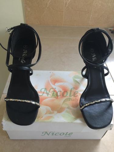 hermosas sandalias/zapatos de fiesta marca nicole italy