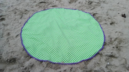 hermosas toallas redondas playeras