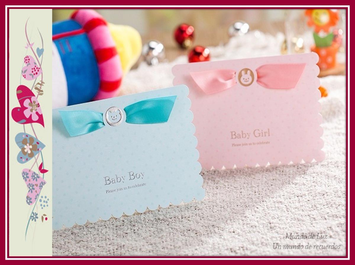 5954c90272757 Hermosísimas tarjetas de invitación para bautizo baby shower cargando zoom  tarjetas de invitacion para jpg 1200x894