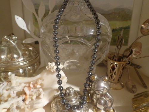 hermosisimo collar en perlas de hematite importado filipinas
