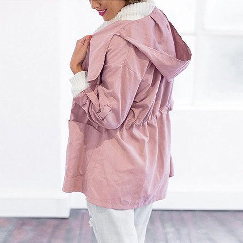 e8c73dae895 Hermoso Abrigo Rosa Mujer Moda Estilo Más Vendido Y Popular ...
