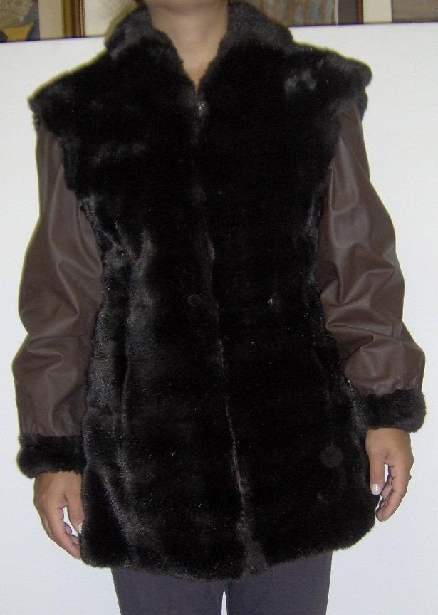 1d4df72c hermoso abrigo tapado campera marrón piel sintética olivos. Cargando zoom.