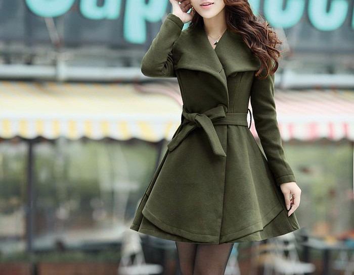 Vestido tipo abrigo