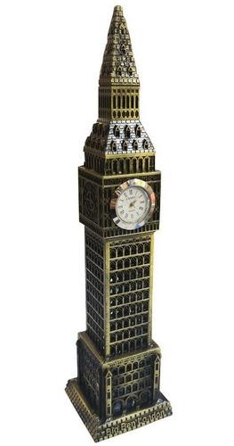 hermoso adorno decoracion torre big ben con reloj