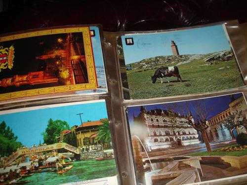 hermoso album de postales  europeas de los 70 vintage