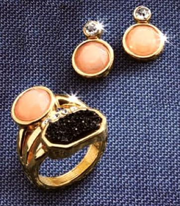 hermoso anillo + aretes bellerose de esika mujer remato!