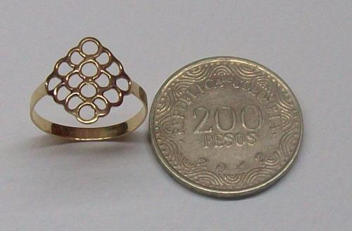 hermoso anillo armonía en oro 18k