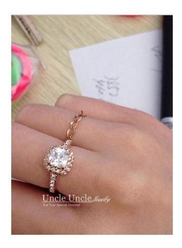 hermoso anillo compromiso corte princesa 2020