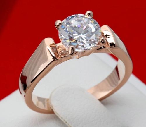 hermoso anillo de compromiso swarov elements clásico!!