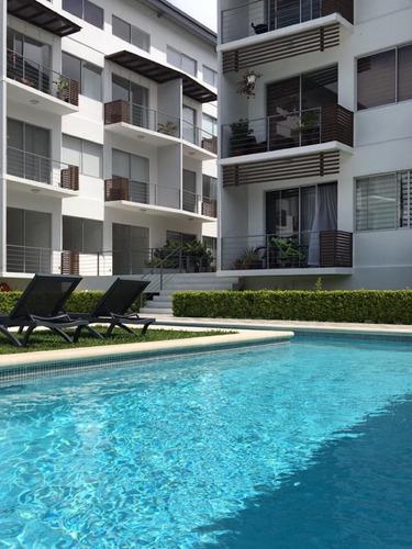 hermoso apartamento en condominio en santa ana con144