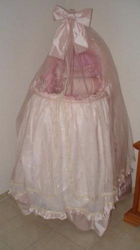 hermoso bambineto en seda color palo de rosa para bebe