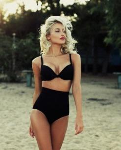 Hermoso Bikini Negro Hermoso Alto Negro Bikini Hermoso Alto Negro Bikini Alto OZikXPu