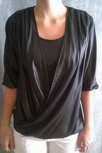 hermoso blusa en gasa brillante marca asterisco m