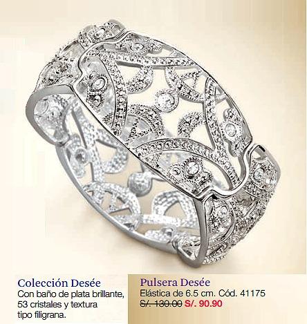 hermoso brazalete pulsera finart esika lbel finos cristales