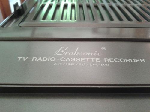 hermoso broksonic tv - radio -cassette recorder - vintage!!