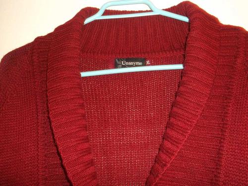 hermoso chaleco abierto, rojo italiano, talla xl, también l.