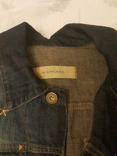 hermoso chaleco de jean con tachas rapsodia