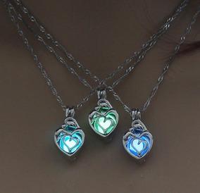 90f2e220dc6c Hermoso Collar Brilla Oscuridad Pequeño Corazon Luminiscente