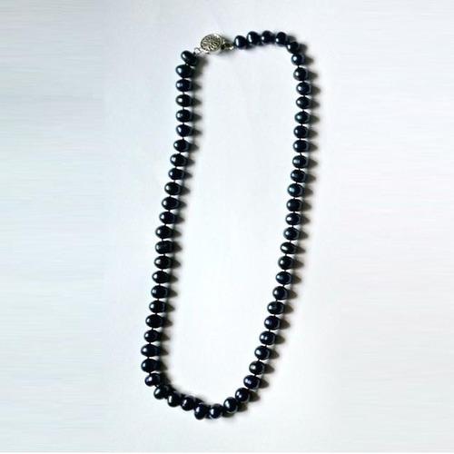 hermoso collar de perlas tahitianas azulinas
