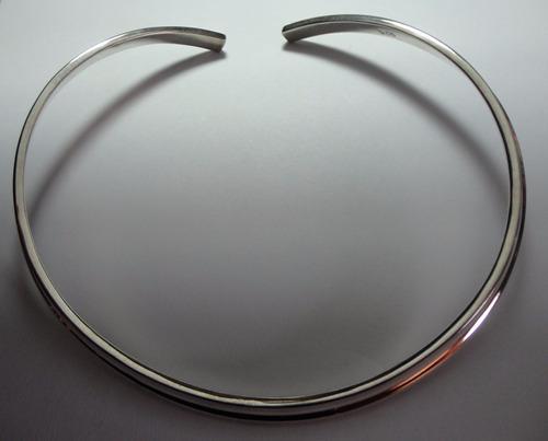 hermoso collar gargantilla plata esterlina 925