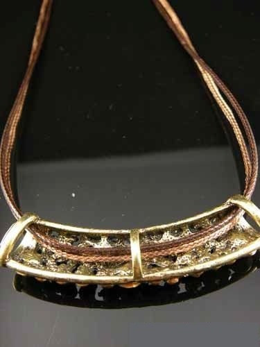 hermoso collar moda retro incrustaciones  cristal austriaco